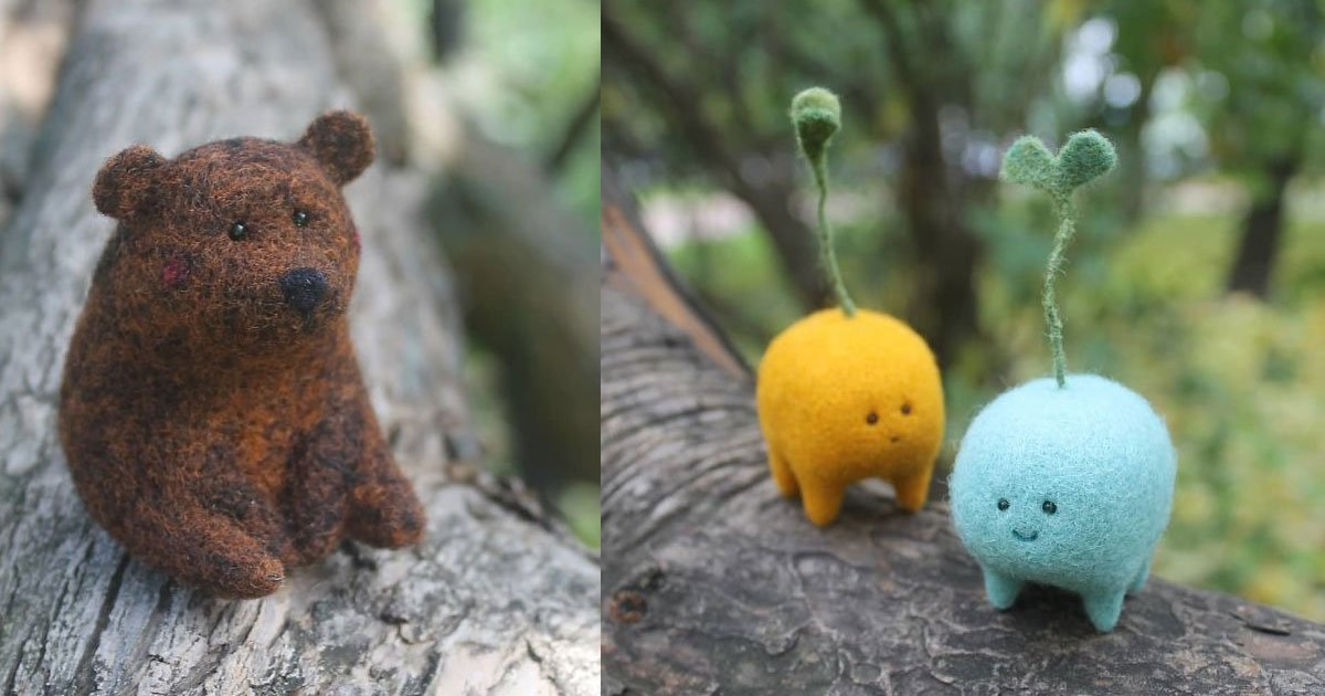 untitled 1 17.jpg?resize=1200,630 - Former Theater Artist Created Adorable Miniature Wool Sculptures Of Small Animals