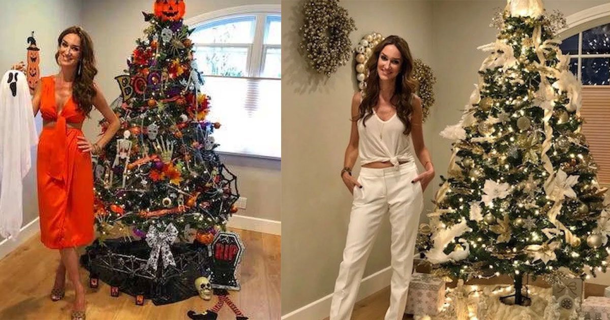 untitled 1 3.jpg?resize=412,232 - Une femme a redécoré son sapin de Noël à différentes occasions de l'année afin qu'elle n'ait pas à l'enlever