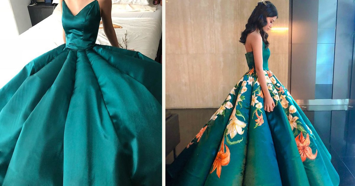 untitled 1 53.jpg?resize=412,275 - A High School Student Went Viral After Painting Her Own Graduation Ball Dress