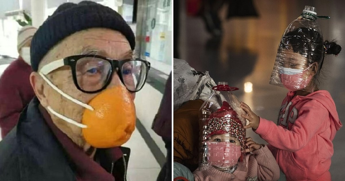 untitled design 11.png?resize=1200,630 - Desperate Residents Using Bras And Fruits To Cover Their Faces Amid Coronavirus Outbreak