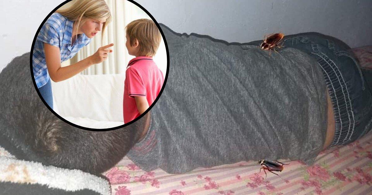 untitled design 13.png?resize=412,232 - LOL: Une maman a truqué une photo de son fils avec des cafards pour qu'il prenne une douche