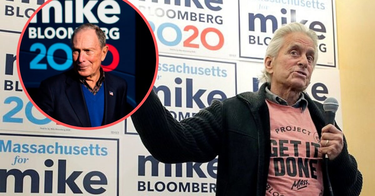 untitled design 20 1.png?resize=412,232 - Michael Douglas Campaigned For Bloomberg And Dubbed Him 'One Of The Best Candidates In 40 Years'
