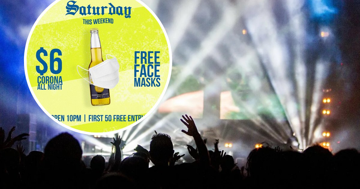 untitled design 24.png?resize=1200,630 - Bar Slammed For Hosting Coronavirus-Themed Party With The Promise Of Free Face Masks