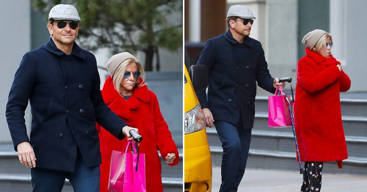 untitled design 40 1.png?resize=412,232 - Bradley Cooper Seen Carrying His Mum's Bag And Cane While Strolling In New York
