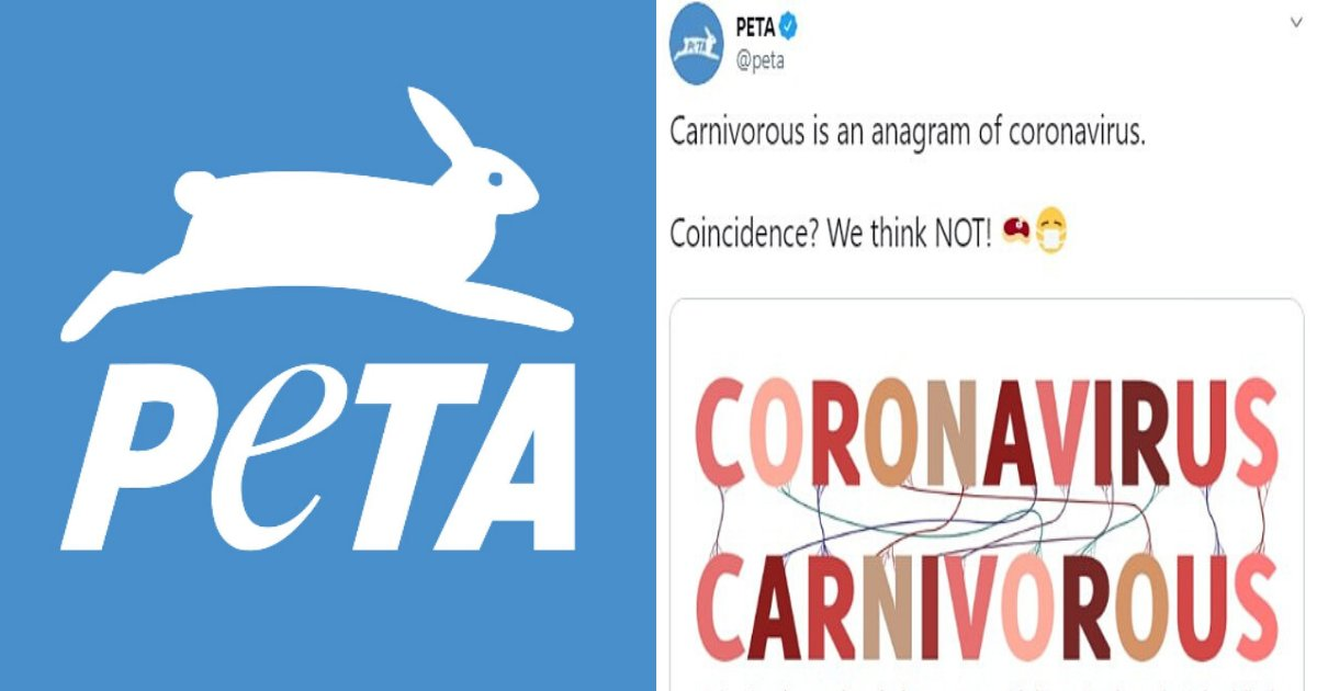 untitled design 42 1.png?resize=1200,630 - PETA Suggested That Eating Meat Leads To Contracting Coronavirus In Absurd Ad