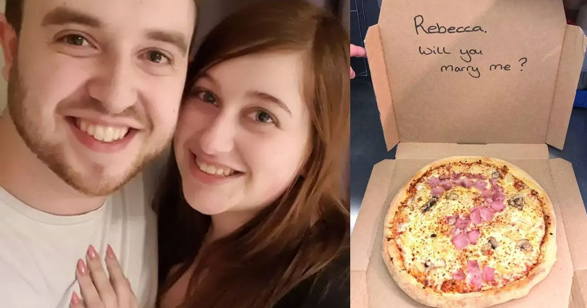 v.jpg?resize=412,232 - A Man Proposed To His Girlfriend With A Pizza With The Ham Arranged In The Shape Of A Question Mark