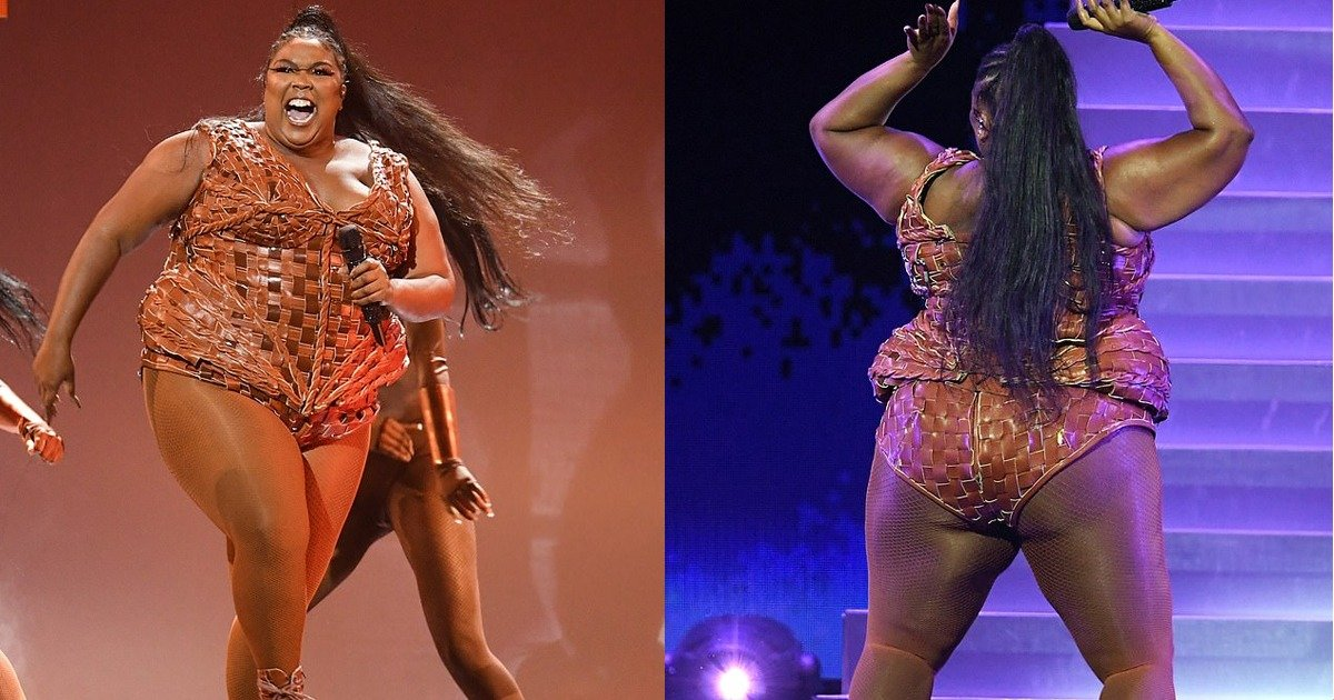 whatsapp image 2020 02 19 at 4 48 24 pm.jpeg?resize=412,232 - BRITs 2020: Lizzo Display Her Moves In A Tan Leather Bodysuit She Rocks The Stage But Misses out The Best International Female To Billie Eilish