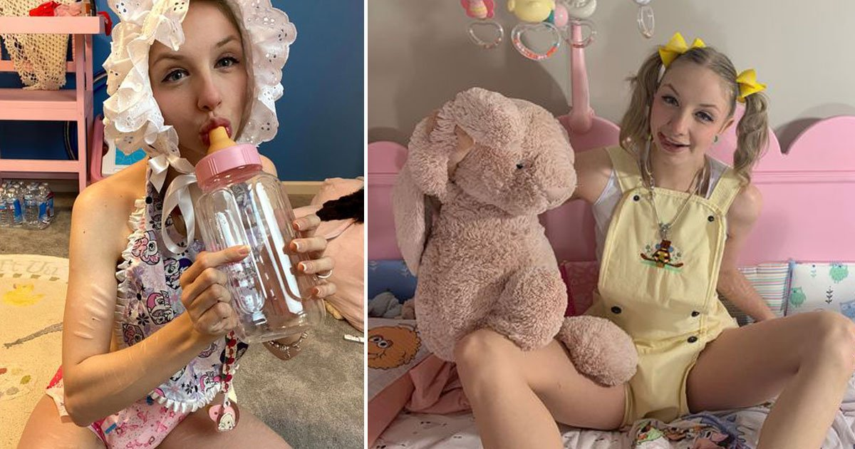 woman living adult baby.jpg?resize=412,232 - 25-Year-Old Full-Time Adult Baby's Expenses Are Funded By Her Paid Subscribers Who Support Her Lifestyle