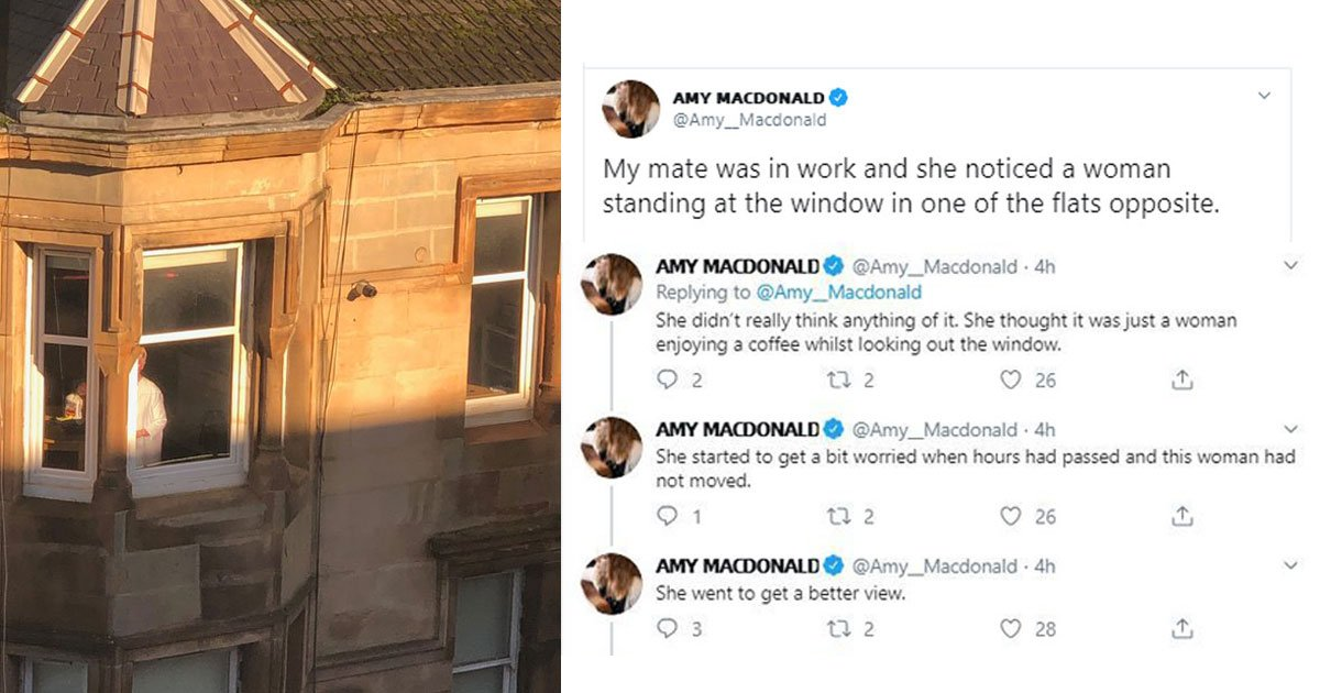 woman spotted motionless figure near window turned out judy dench.jpg?resize=412,232 - Woman - Who Spotted A Figure Near A Window Motionless For Several Hours - Found Out The Hilarious Truth
