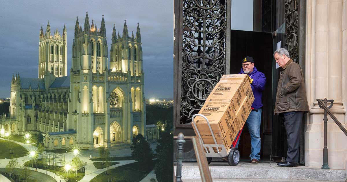 11 55.jpg?resize=1200,630 - National Cathedral Donates 5,000 Facemasks Forgotten For About 14 Years