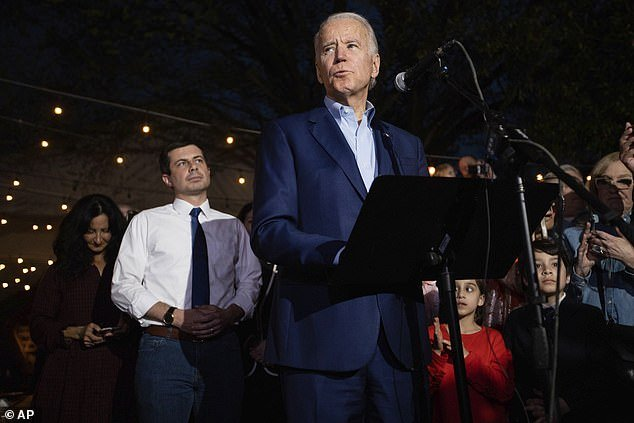 Former Vice President Joe Biden speaks after being endorsed by Pete Buttigieg