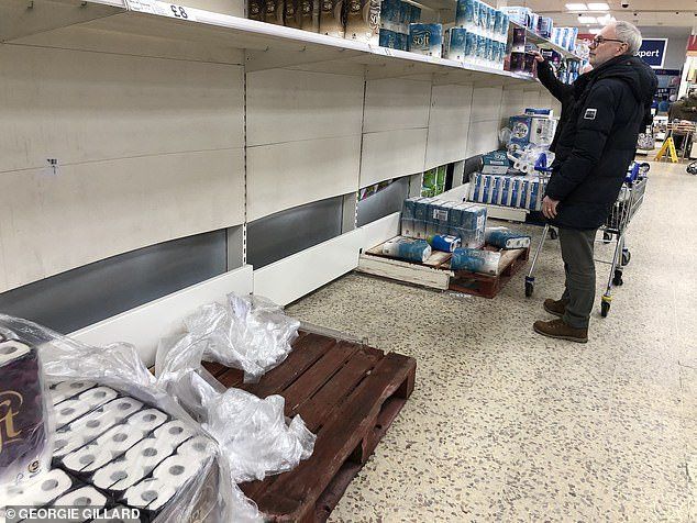 The government last week urged calm as it emerged some supermarkets were warning of shortages of drugs, hand sanitiser and bizarrely toilet roll
