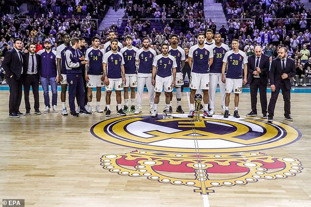 A Real Madrid basketball player, named locally as Trey Thompkins, has been diagnosed