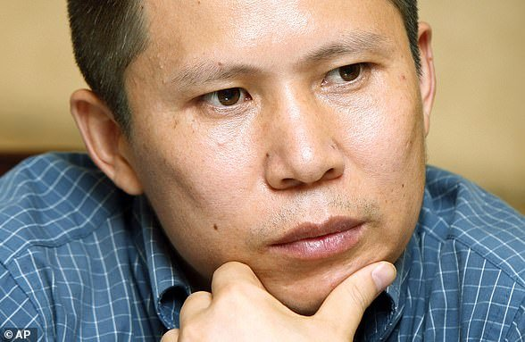 Xu Zhiyong (pictured in 2009) was reportedly detained after publishing a series of blog posts criticising the Communist Party