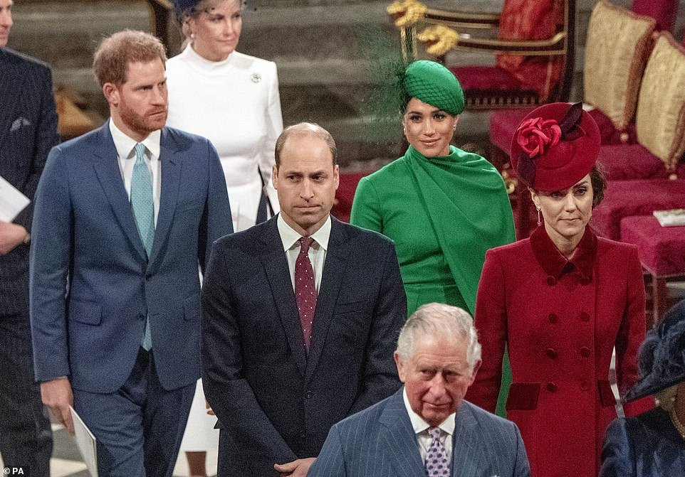 March 9: Charles also stood close to his children and his wives on March 9 at Westminster Abbey, before he is said to have been contagious.William and Kate are at Anmer Hall in Norfolk, while Harry and Meghan are back in Canada.