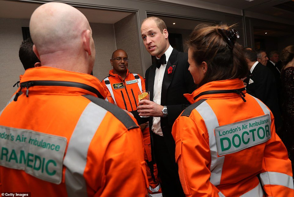 William attended the charity