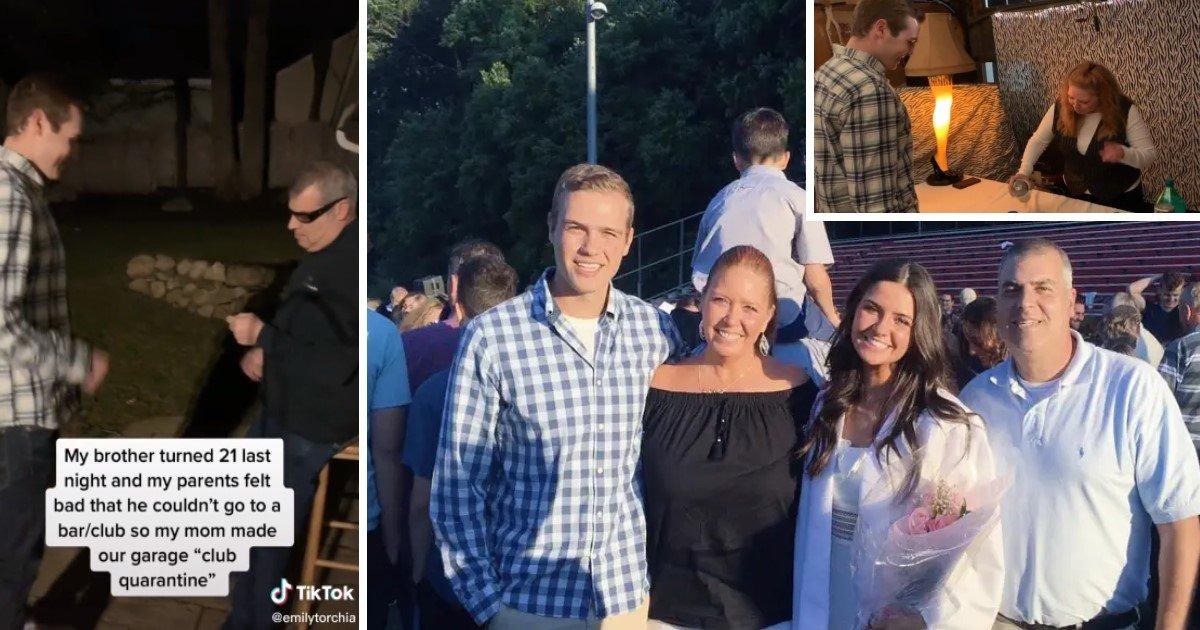 Family Turned Garage Into A Nightclub To Celebrate Son S 21st Birthday During Quarantine Small Joys