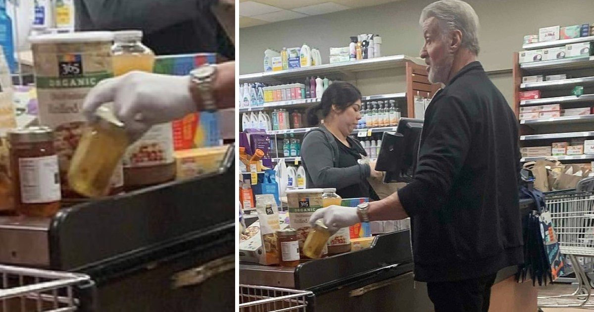 2 71.jpg?resize=1200,630 - Sylvester Stallone Spotted Wearing Latex Gloves As He Shopped Grocery At Whole Foods