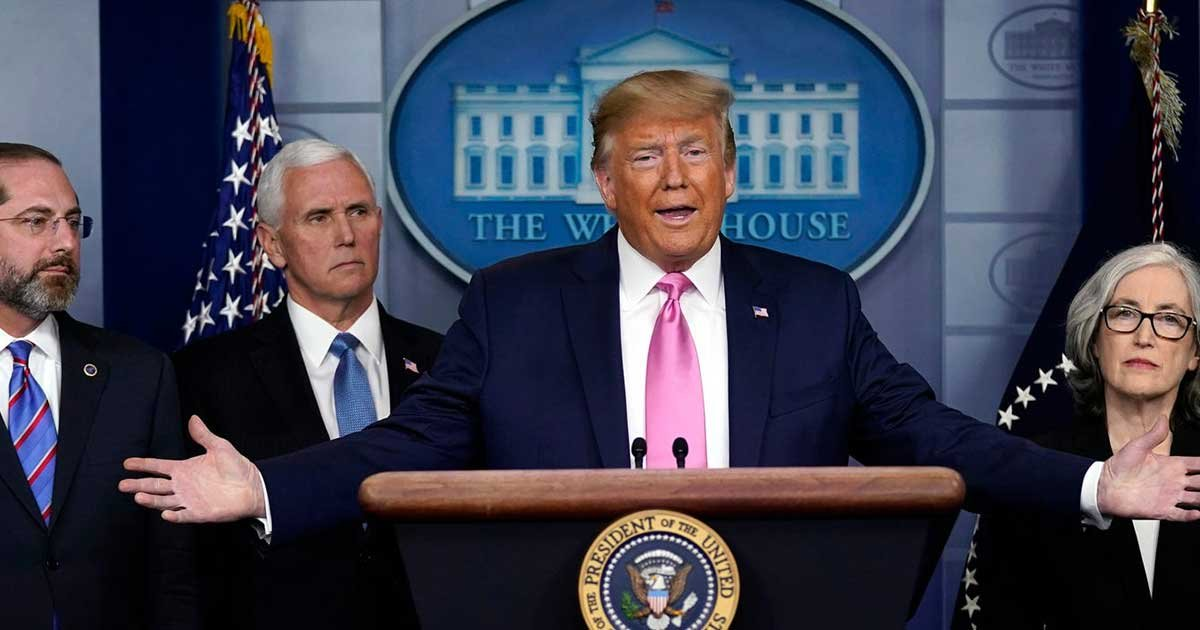22 2.jpg?resize=1200,630 - Trump Announces New Travel Ban But Downplays Coronavirus Threat