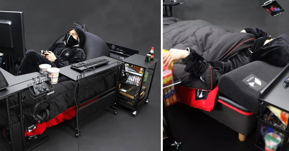 """3 22.jpg?resize=412,275 - A Company Unveiled The Ultimate """"Gaming Bed"""" Where You Can Game, Nap And Snack"""