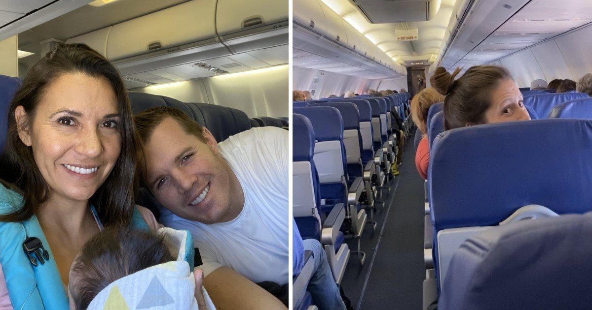 4 56.jpg?resize=1200,630 - A Couple Flying Home With Their Adopted 8-Day-Old Daughter Got A Surprise Baby Shower During The Flight