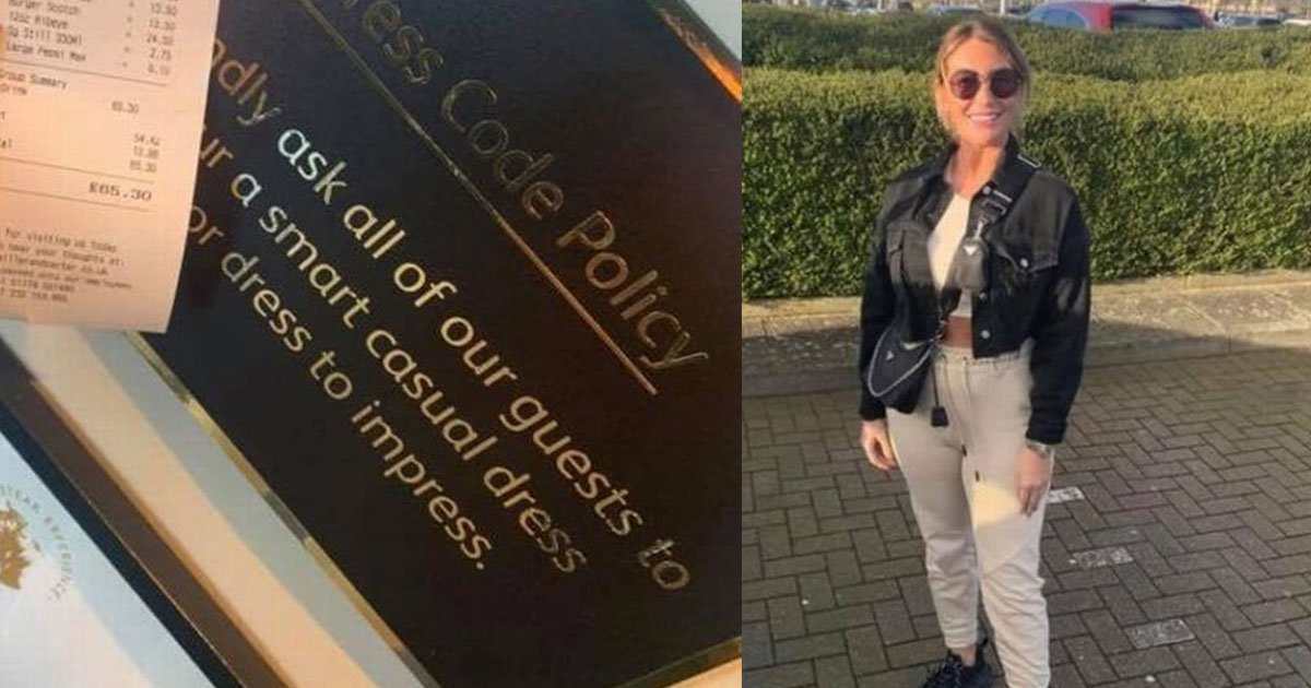 a woman was asked to leave the restaurant because of her outfit.jpg?resize=412,232 - A Woman Was Asked To Leave The Restaurant Because Of Her Outfit