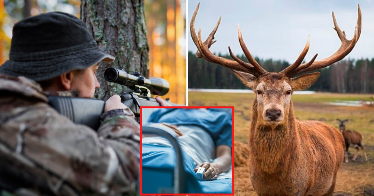 deer5.png?resize=1200,630 - Deer Ripped Off A Hunter's Face After It Charged Into Him While Trying To Run Away