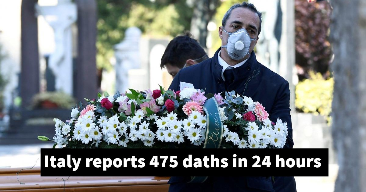 dfdfdfdfdf.jpg?resize=1200,630 - Italy Coronavirus Deaths Rise By 475 In A Day - The Highest One-day Death Toll Of Any Country