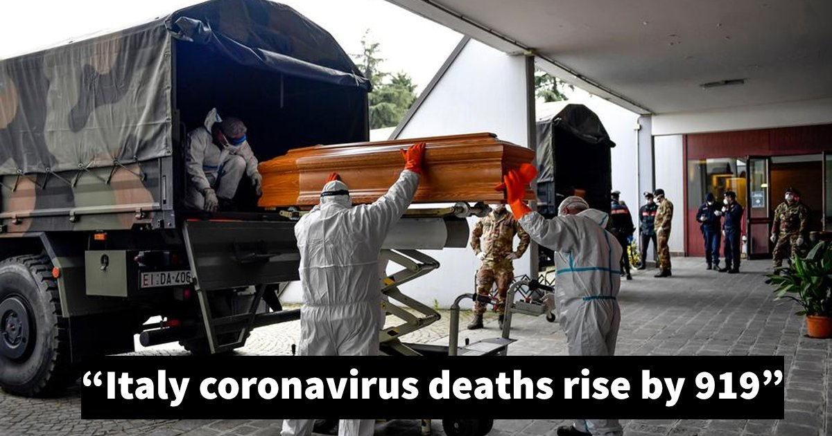 gdgdg.jpg?resize=412,232 - Breaking: Italy Reports Record 919 Coronavirus Deaths - Highest Since Start Of Outbreak