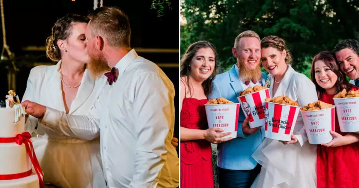 kfc6.png?resize=1200,630 - Couple Became The First In The World To Have A KFC-Themed Wedding Ceremony