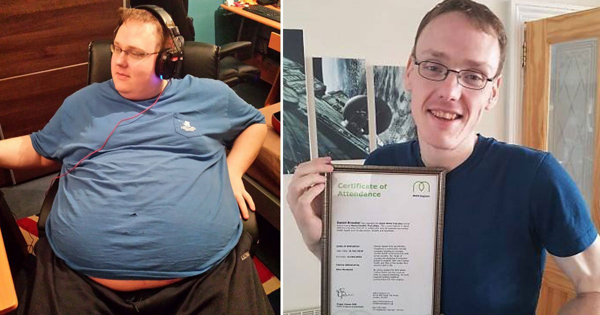 man spent 14 hours playing games lost 18 stone.jpg?resize=412,232 - 32 Stone Man - Who Spent 14 Hours A Day Playing Computer Games - Is Now Offering Healthy Eating Courses After Losing 18 Stone