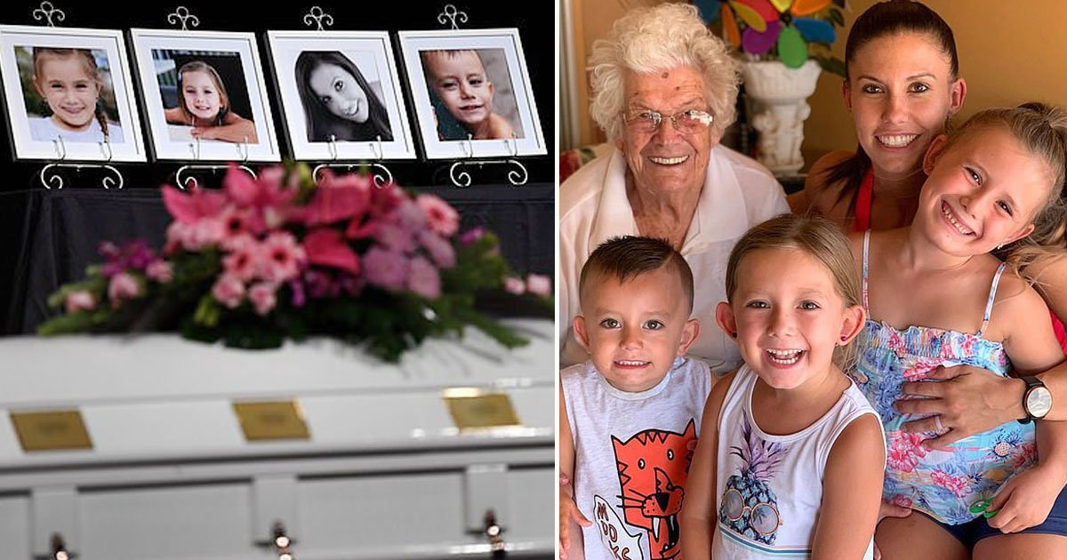 mother children single coffin.jpg?resize=412,232 - Heartbreaking Pictures From The Funeral Of A Mother And Her Three Children Sharing A Single Coffin