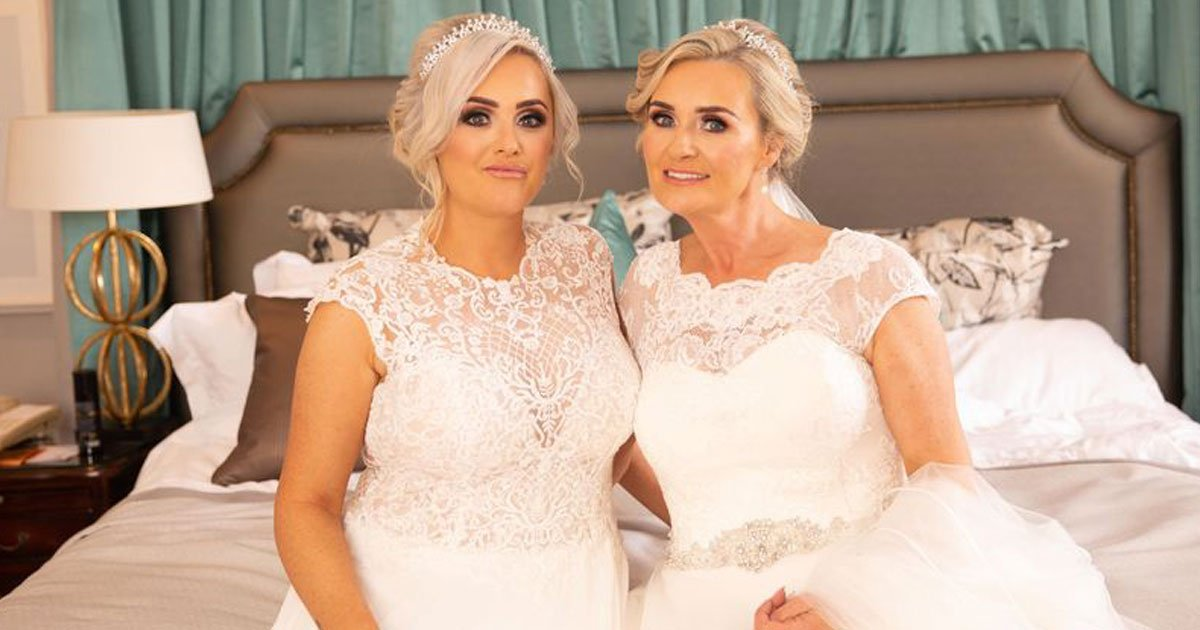 mother daughter double wedding.jpg?resize=412,232 - Mother And Daughter Surprised Their Guests By Having A Double Wedding - Later Went On A Joint Honeymoon