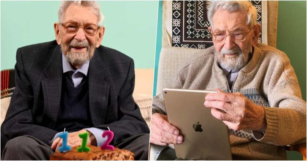 thumbnailslsl.jpg?resize=1200,630 - World's Oldest Man, Bob Weighton, Celebrates His 112th Birthday Alone In Self Isolation