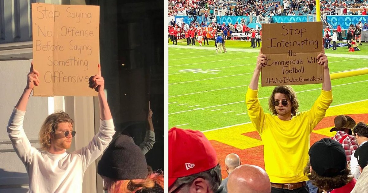 untitled 1 26.jpg?resize=1200,630 - 'Dude With A Sign' Has 5.7 Million Followers For Sharing The Truth No One Talks About In Public
