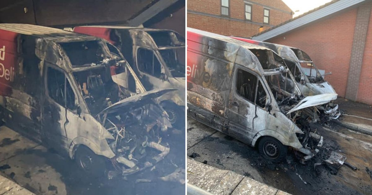 untitled design 11 3.png?resize=1200,630 - Thieves Looted And Burned Vans That Were Delivering Essentials To Isolated Families Amid Coronavirus Lockdown