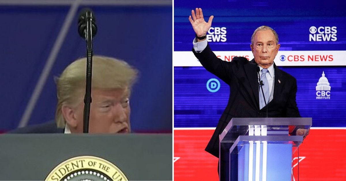 untitled design 26.png?resize=1200,630 - President Trump Mocked 'Mini' Bloomberg's Height And Slammed Biden During His CPAC Speech