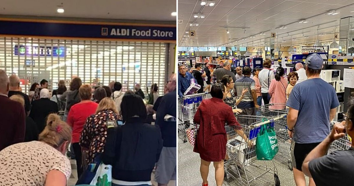 untitled design 91.png?resize=1200,630 - Customers Outraged After Supermarket Employee Warned Them To 'Chill Out' Before Opening The Door
