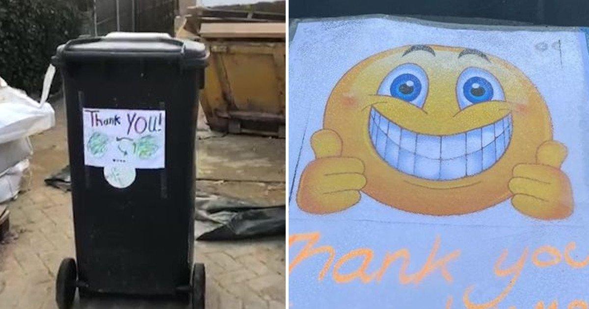 1 18.jpg?resize=1200,630 - Residents Leaving Heartwarming 'Thank You' Notes On Bins For Binmen To Show Their Gratitude