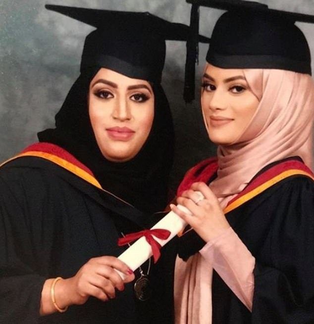 Ms Nasreen (left) with Rubi Aktar (right), a nurse who paid tribute to her
