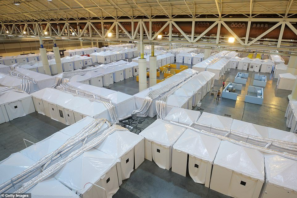Ernest N. Morial Convention Center in New Orleans, Louisiana, has been set up as a field hospital for coronavirus patients