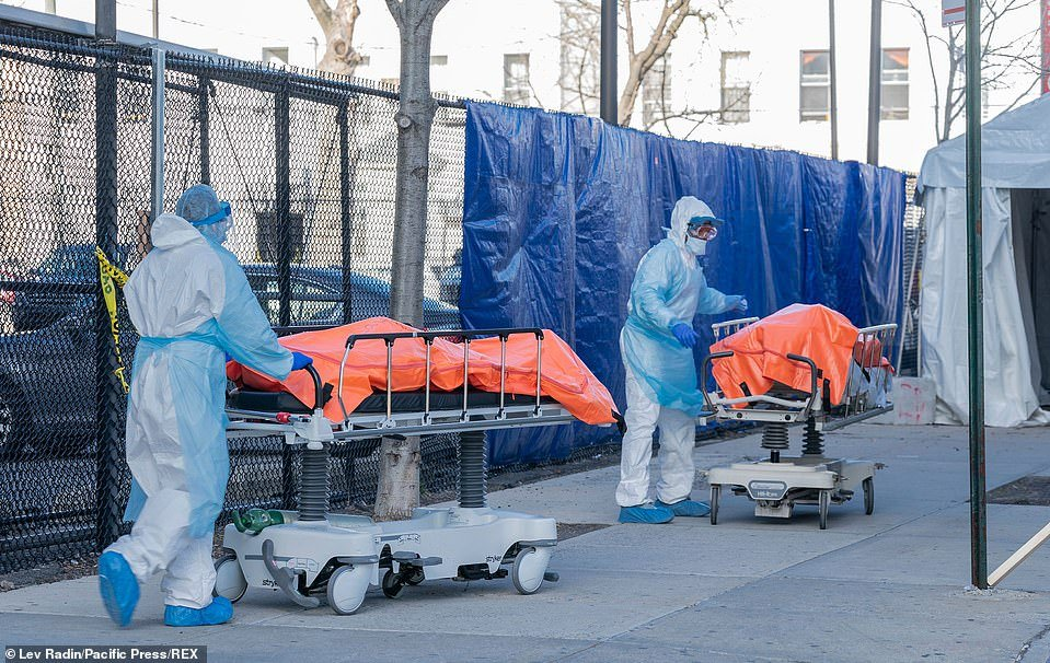 Hundreds of people are dying in New York City alone every day. Their bodies are lined up and waiting to go inside the mogue