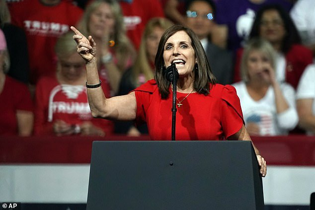Sen. Martha McSally at a rally for President Donald Trump in Phoenix in February. She has joined other Republicans in calling for Dr Tedros to resign