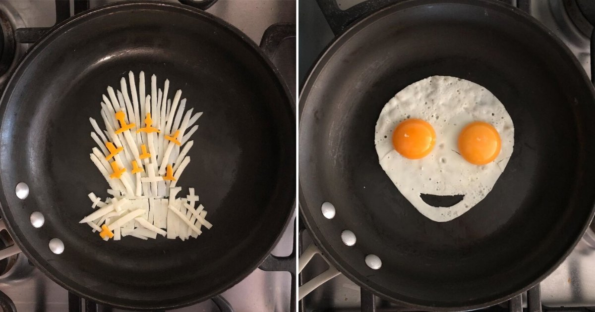 2 26.png?resize=1200,630 - This Guy Uses Pan And Eggs To Create Edible Masterpieces