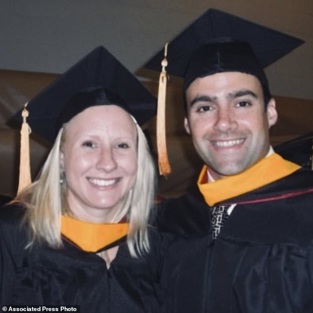 Dangerous job: The couple, who met in nurse anesthesia school in 2007, are placing breathing tubes in surgery patients, any of whom may have COVID-19, at Tampa General Hospital