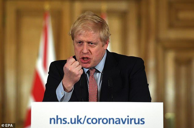 Prime Minister Boris Johnson, pictured at a Downing Street press conference on March 12, said a working antibody test would be a