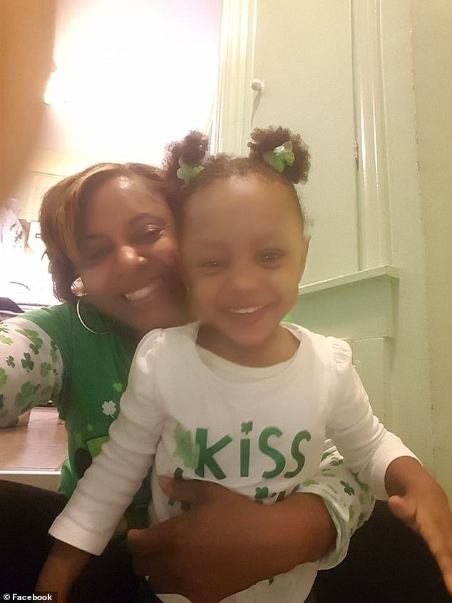 She later developed a rare form of meningitis and brain swelling. Her mother LaVondria said Skylar