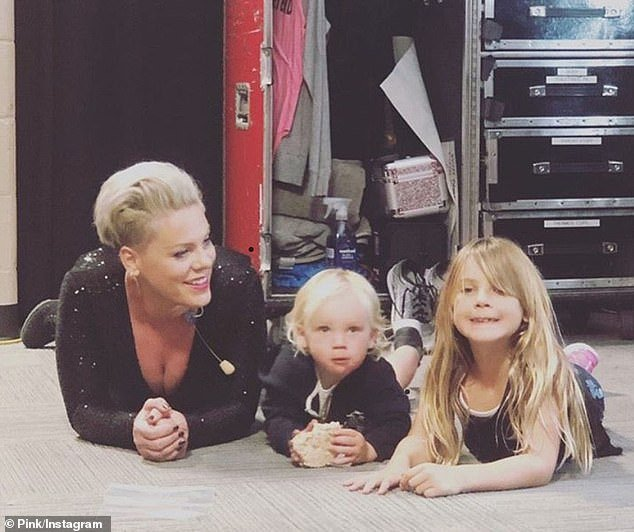 Babies: Pink is the mom to Jameson, three, and Willow, eight