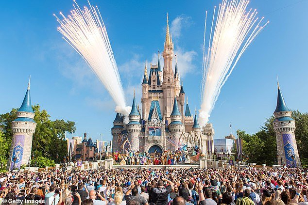 Pictured: Walt Disney World Resort, Florida, one of the many sites shut down inmid-March
