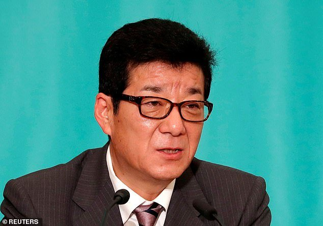 The mayor of the western Japanese city Osaka - Ichiro Matsui (pictured) - has come under fire on social media after saying women take longer than men shopping for groceries